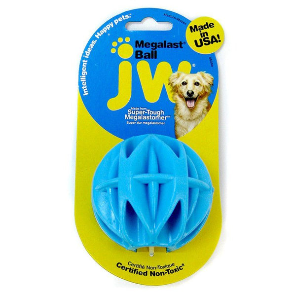 JW Pet Megalast Rubber Dog Toy - Ball.