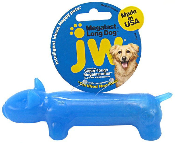 JW Pet Megalast Rubber Dog Toy - Long Dog.
