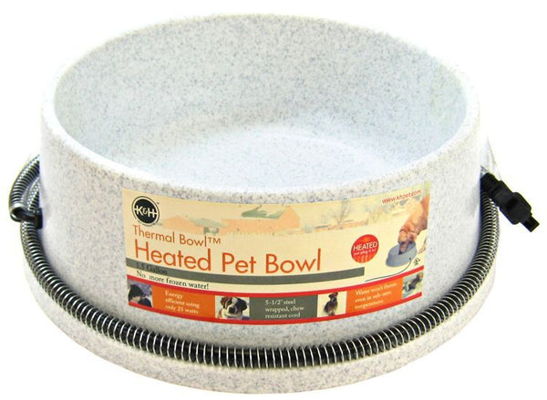 K&H Pet Products Thermal Bowl - Heated Water Bowl.
