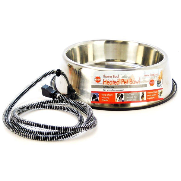 K&H Pet Products Stainless Steel Heated Water Bowl.