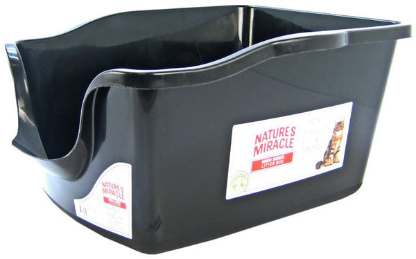 Nature's Miracle High Side Plastic Litter Pan.