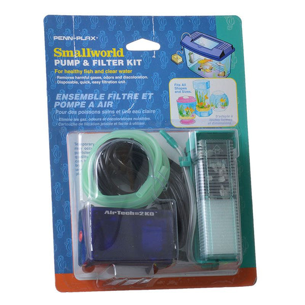 Penn Plax Smallworld Air Pump & Water Filter Kit