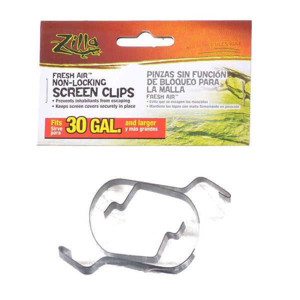 Zilla Fresh Air Non-Locking Screen Clips.