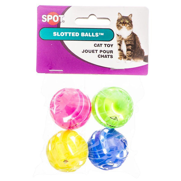 Spot Slotted Balls with Bells Inside Cat Toys.