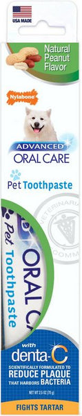 Nylabone Advanced Oral Care Natural Toothpaste - Peanut Flavor