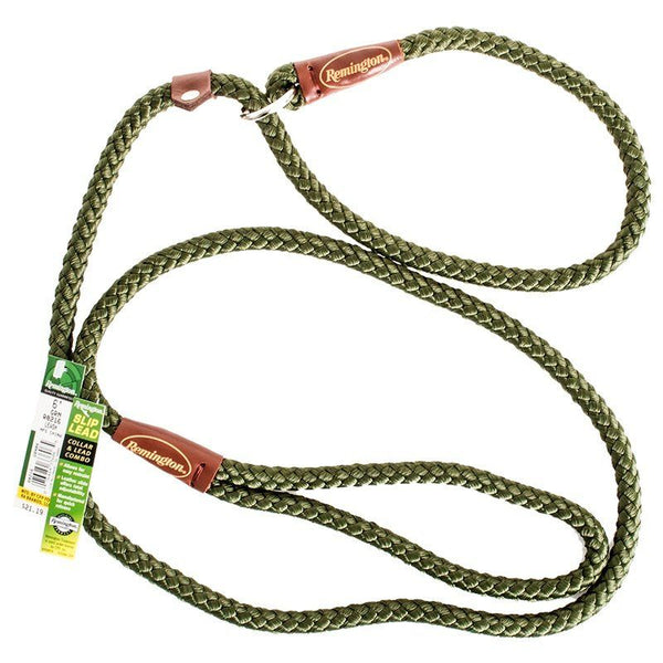 Remington 6' Braided Rope Slip Lead - Green.