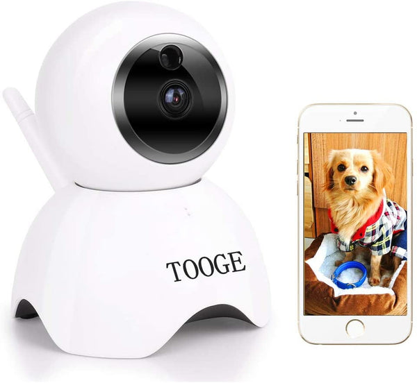 TOOGE Pet Dog Camera Wireless Home Security Camera FHD WiFi Indoor Camera Pet Monitor Cat Camera Night Vision 2 Way Audio and Motion Detection