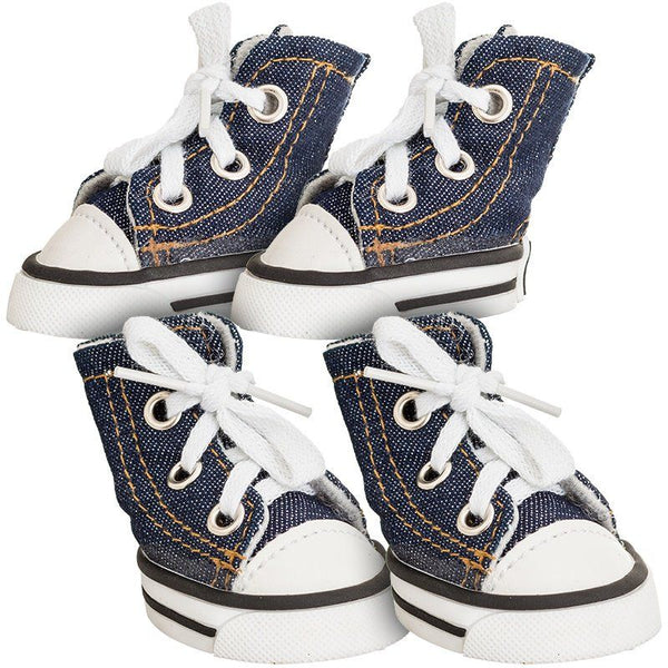 Lookin' Good Sparkle Denim Canvas Dog Sneaker