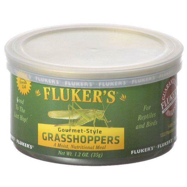Flukers Gourmet Style Canned Grasshoppers