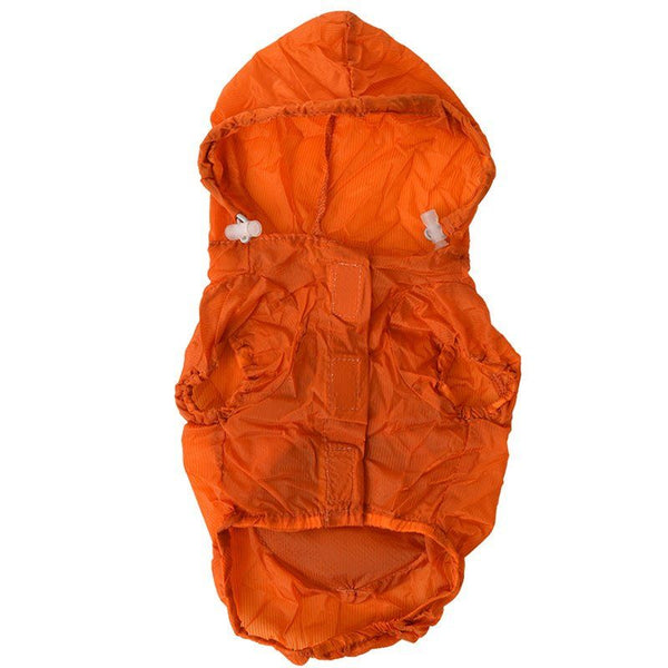 Pet Life Ultimate Waterproof Thunder-Paw Zippered Orange Travel Dog Raincoat