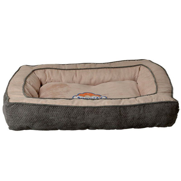 Precision Pet Snoozzy Chevron Chenille Gusset Dog Bed - Grey