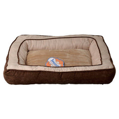 Precision Pet Snoozzy Chevron Chenille Gusset Dog Bed - Chocolate