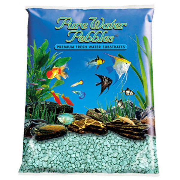 Pure Water Pebbles Aquarium Gravel - Turquoise.
