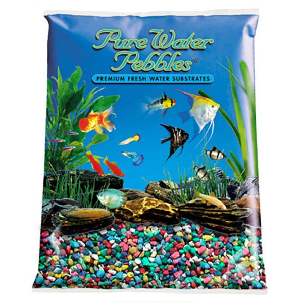 Pure Water Pebbles Aquarium Gravel - Rainbow.
