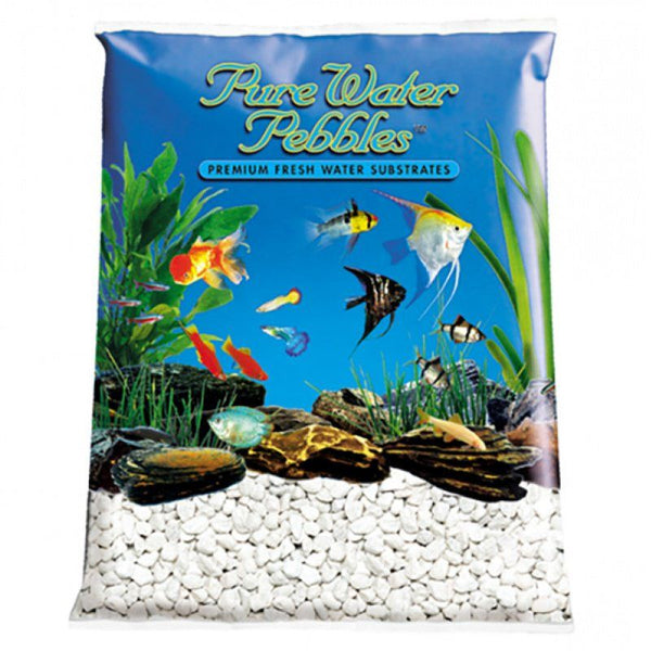 Pure Water Pebbles Aquarium Gravel - Platinum White Frost.