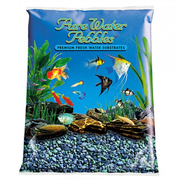 Pure Water Pebbles Aquarium Gravel - Blue Lagoon.