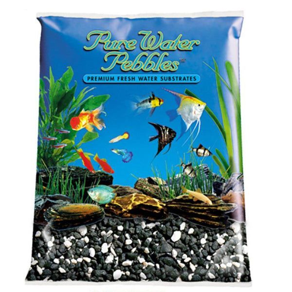 Pure Water Pebbles Aquarium Gravel - Salt & Pepper.