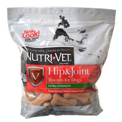 Nutri-Vet Hip & Joint Biscuits for Dogs - Extra Strength