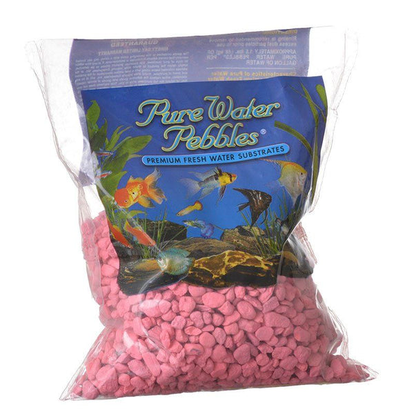 Pure Water Pebbles Aquarium Gravel - Neon Pink.