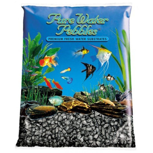 Pure Water Pebbles Aquarium Gravel - Black Frost.