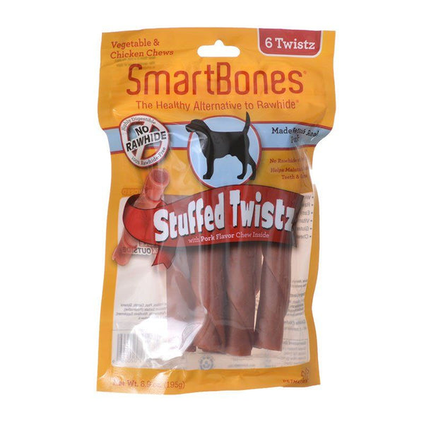 SmartBones Stuffed Twistz with Real Pork.