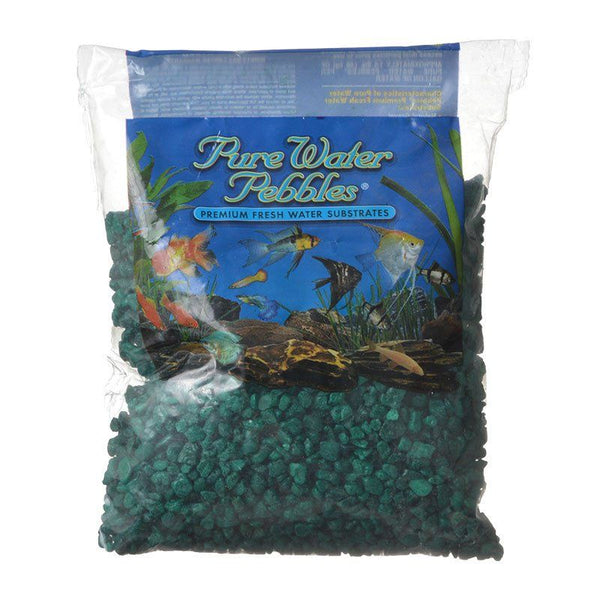Pure Water Pebbles Aquarium Gravel - Emerald Green.