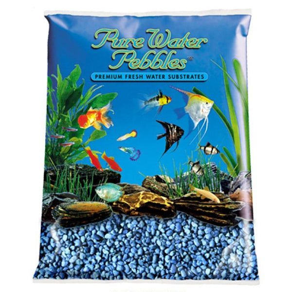 Pure Water Pebbles Aquarium Gravel - Neon Blue.