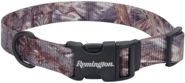 Remington Adjustable Patterned Dog Collar - Mossy Oak Duck Blind.