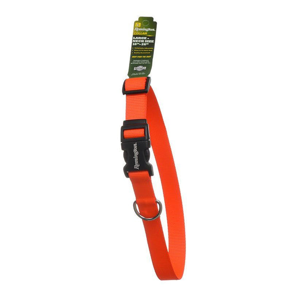 Remington Adjustable Patterned Dog Collar - Safety Orange.