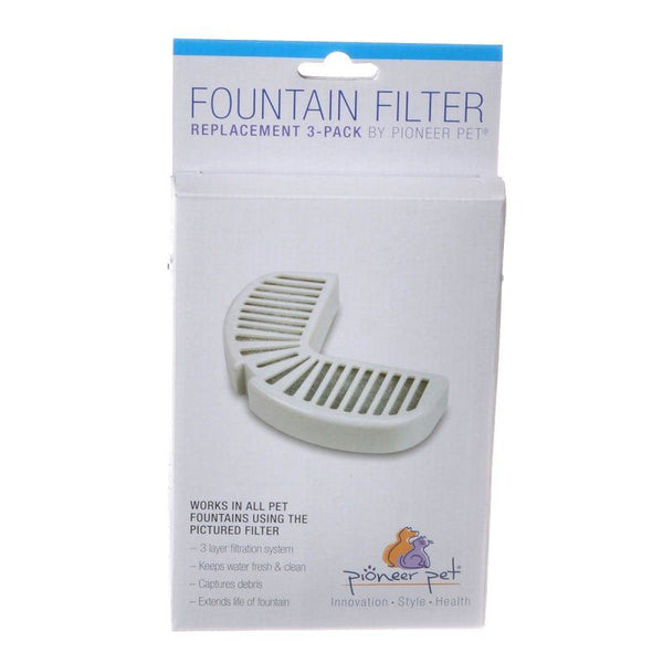 Pioneer Replacement Filters for Stainless Steel and Ceramic Fountains.