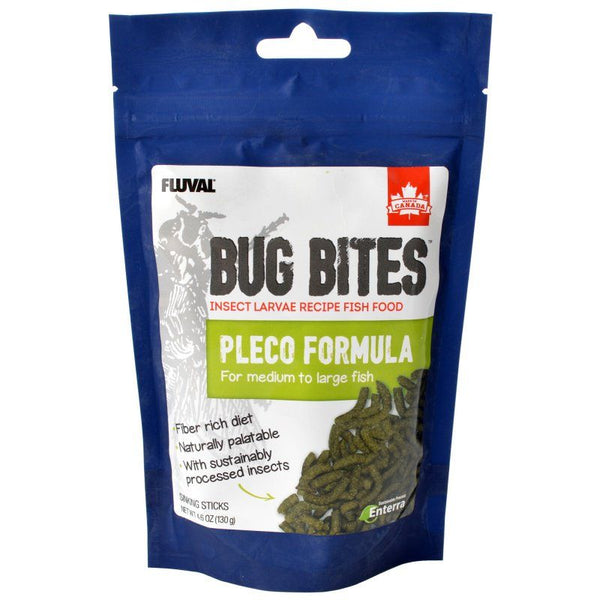 Fluval Bug Bites Pleco Formula Sticks for Medium-Large Fish.