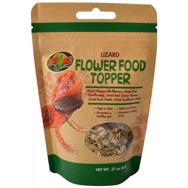Zoo Med Lizard Flower Food Topper.