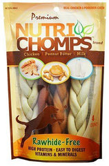 Premium Nutri Chomps Assorted Flavor Braid Dog Chews - Small.