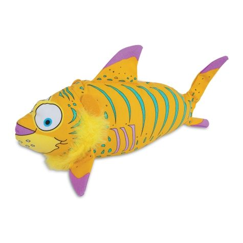 Fat Cat Finimals Tigerfish Dog Toy.