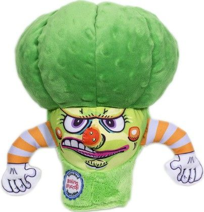 Fuzzu Steamed Vegetable Boiling Broccoli Dog Toy.