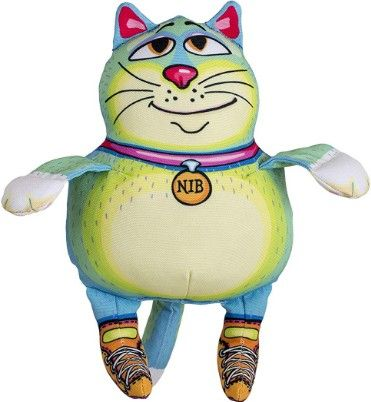 Fuzzu Sneaky Cat Nib Squeaker Large Dog Toy.