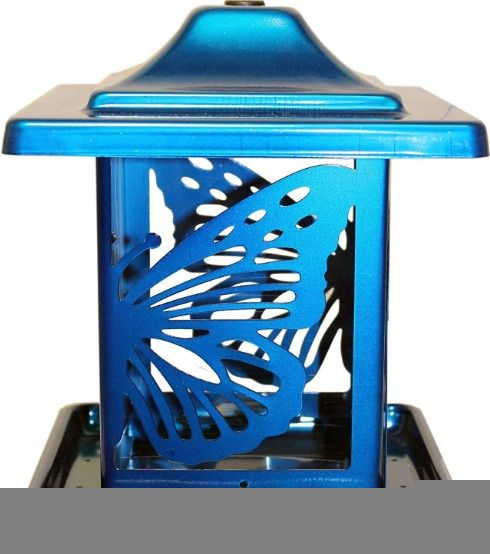 Homestead Monarch Seed Feeder Blue.