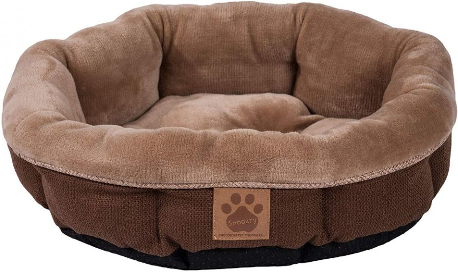 Precision Pet Round Shearling Bed Brown