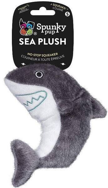 Spunky Pup Sea Plush Shark Dog Toy.