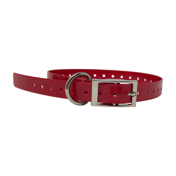 "The Buzzard's Roost Replacement Collar Strap 3/4"" Red 3/4"" x 24"""