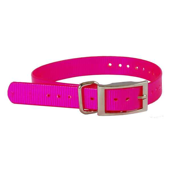 "The Buzzard's Roost Replacement Collar Strap 1"" Pink 1"" x 24"""