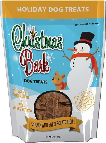 Christmas Bark Dog Treats Chicken & Sweet Potato Recipe