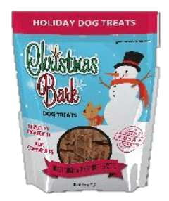 Christmas Bark Turkey & Cranberries Dog Treat Recipe.