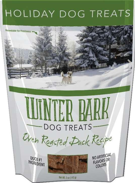 Christmas Winter Bark Dog Treats Oven Roasted Duck Recipe.