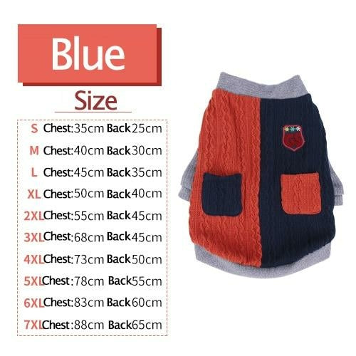 Dog Clothes Warm Sweater Two Feet  Jackets Soft Clothing.