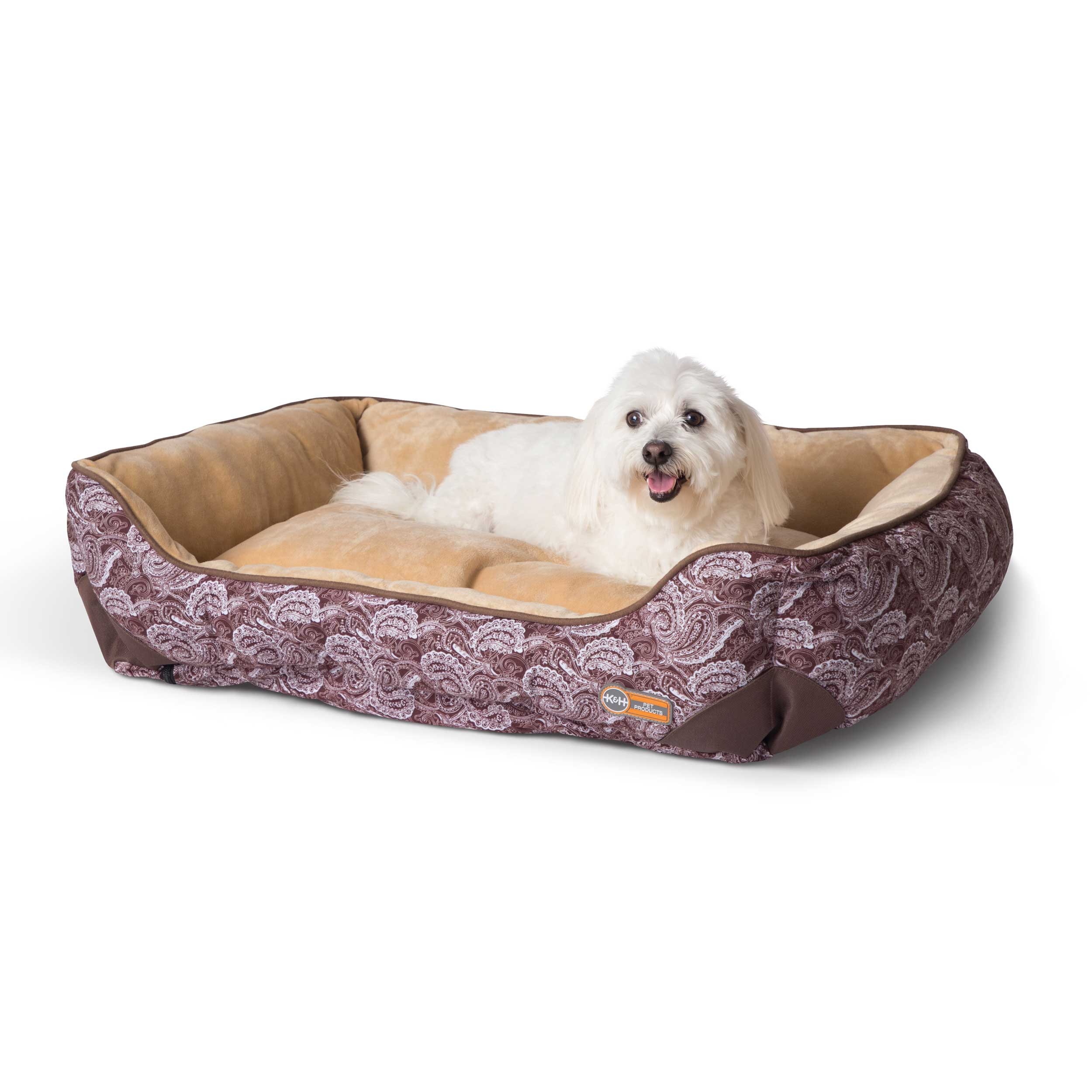 "K&H Pet Products Self-Warming Lounge Sleeper Medim Brown 24"" x 30"" x 9"""