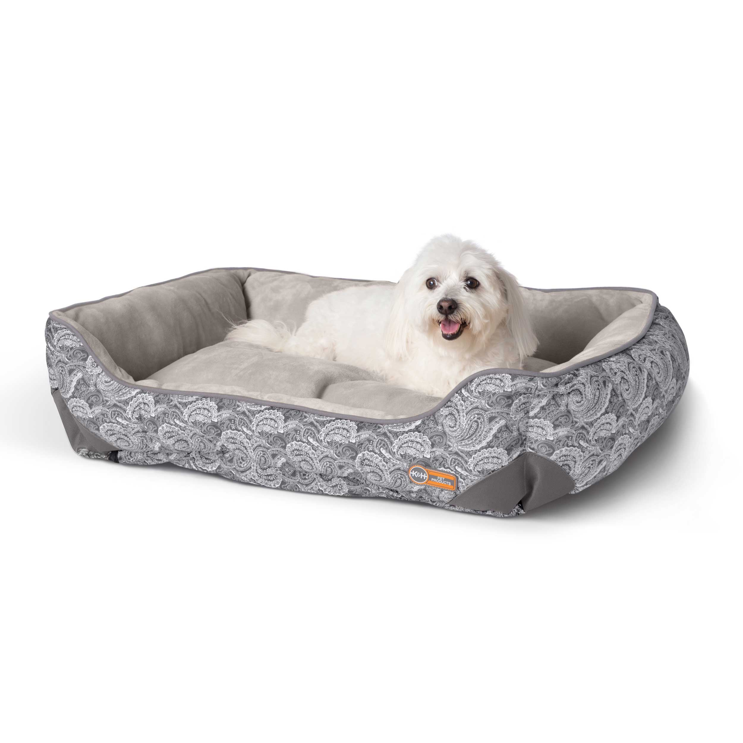 "K&H Pet Products Self-Warming Lounge Sleeper Medim Gray 24"" x 30"" x 9"""