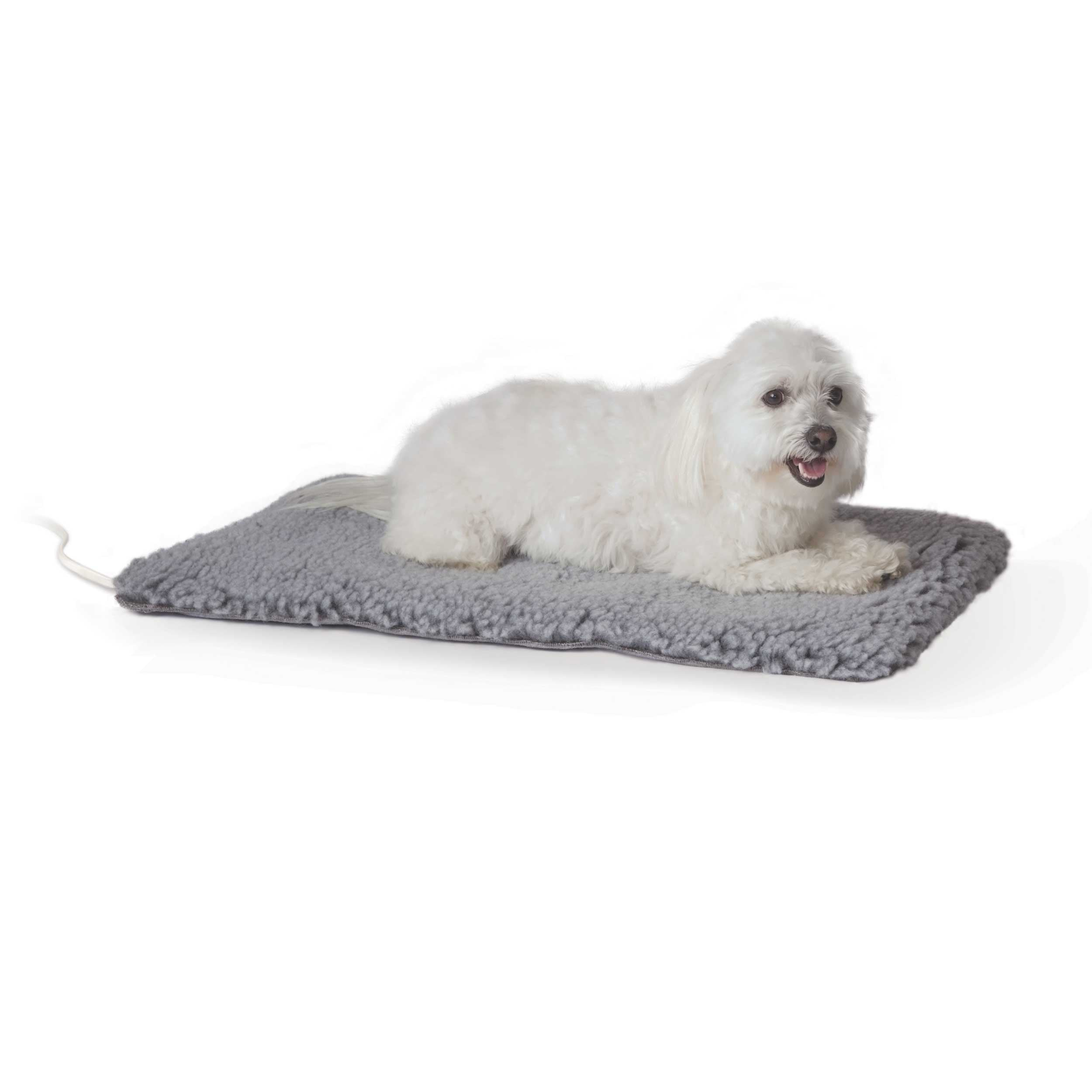 "K&H Pet Products Thermo-Plush Pet Pad Medium Gray 17.5"" x 28"" x 1"""