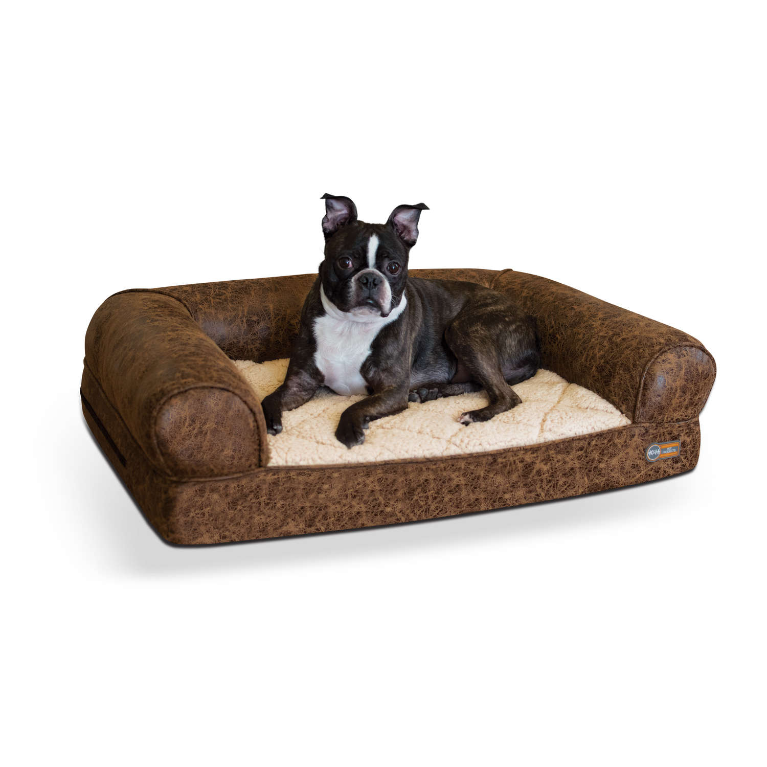 "K&H Pet Products Bomber Memory Dog Sofa Medium Brown 24"" x 33"" x 8.5"""
