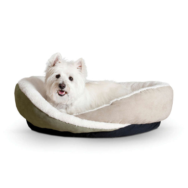 "K&H Pet Products Huggy Nest Pet Bed Large Green / Tan 36"" x 30"" x 8"""